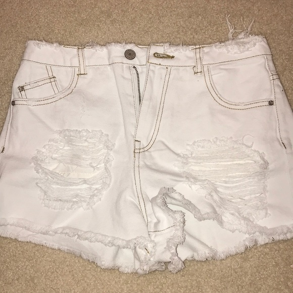 cute white jean shorts